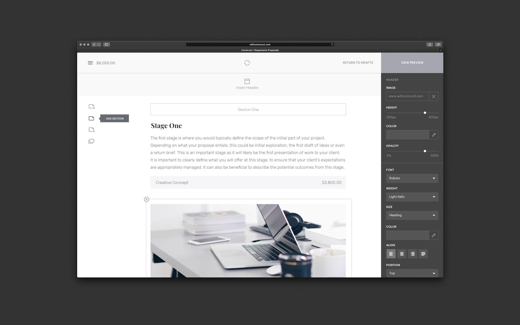 Construct Editor