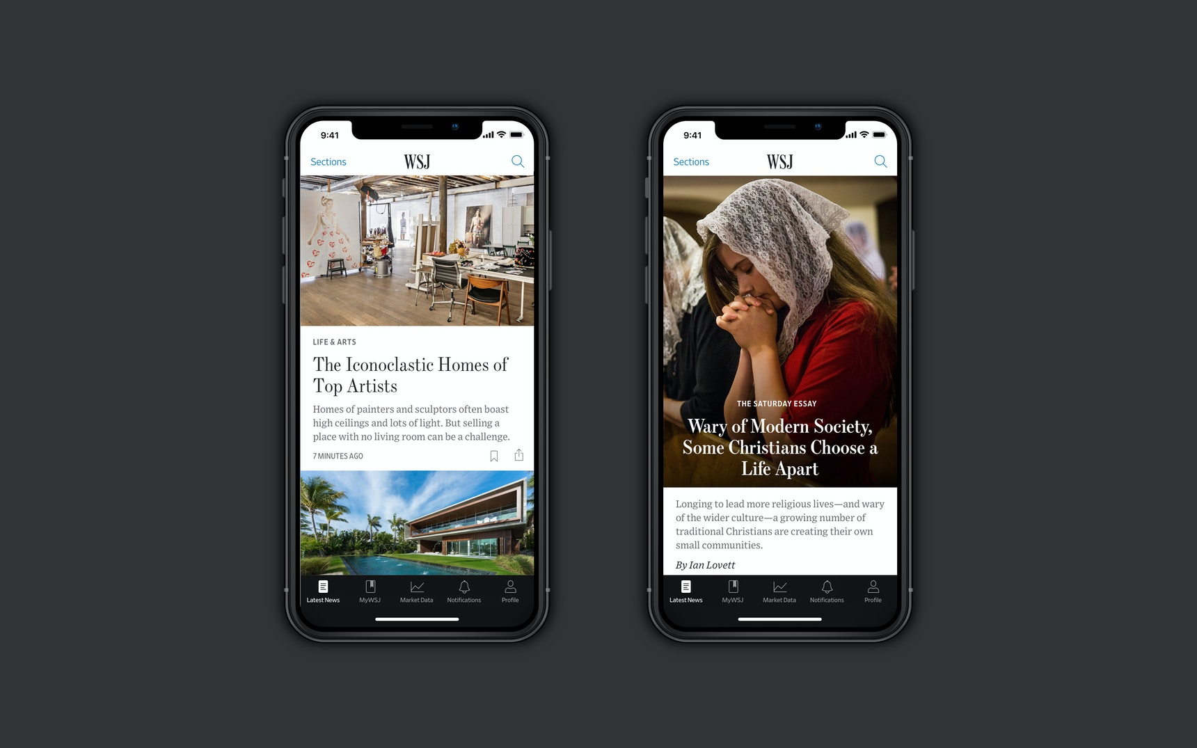 The Wall Street Journal | iOS App — Thomas Williams